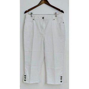 💰3/20$💰LINDOR White denim capris mid waist